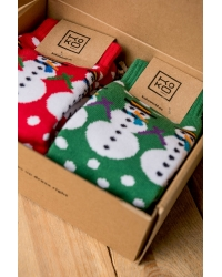 2er-Set Socken Snowman +  Geschenkbox !